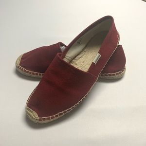 Soludos espadrilles in Oxblood (red)